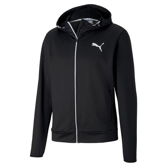 PUMA RTG FZ hoodie, Color: black, Material: polyester, elastane