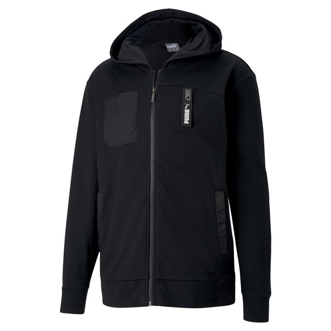 PUMA NU-TILITY FZ hoodie, Color: black, Material: Cotton