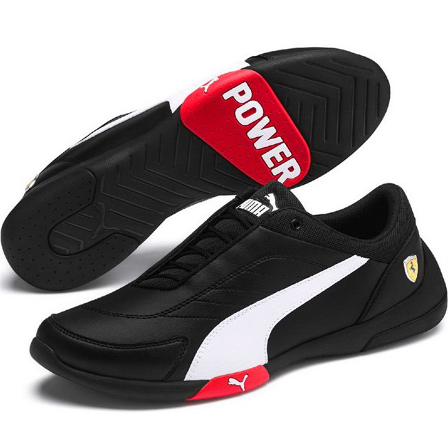 Ferrari SF Kart Cat III shoes, Color: Black, Material: Upper: Synthetic fibers, Midsole: EVA, Sole: rubber