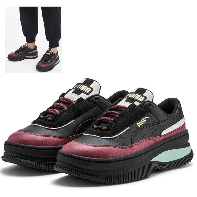 PUMA Deva Chic Wns shoes, Color: Black, Material: Upper: leather, Midsole: rubber, Sole: rubber