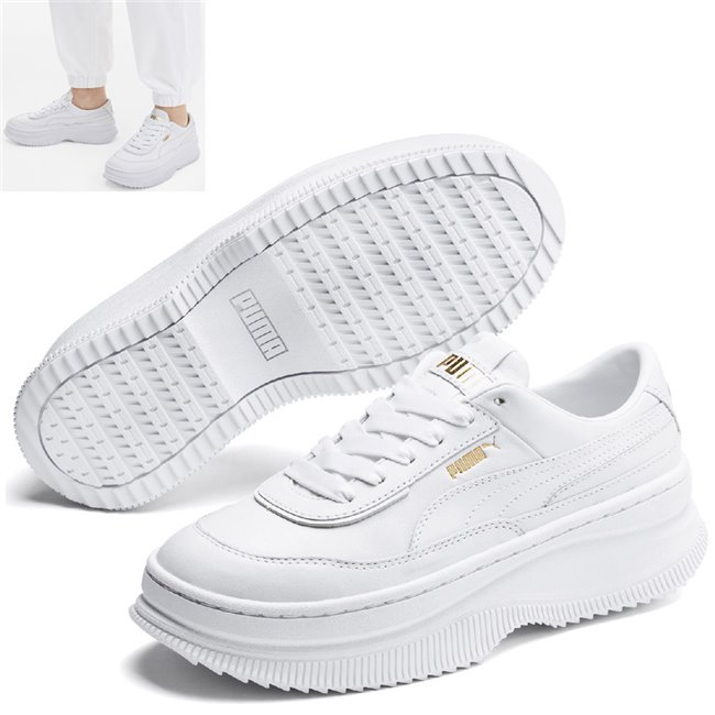 PUMA Deva Wns shoes, Color: white, Material: Upper: leather, Midsole: rubber, Sole: rubber