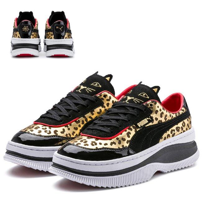 PUMA DEVA CHARLOTTE shoes, Color: Black, Material: Upper: leather, Midsole: rubber, Sole: rubber