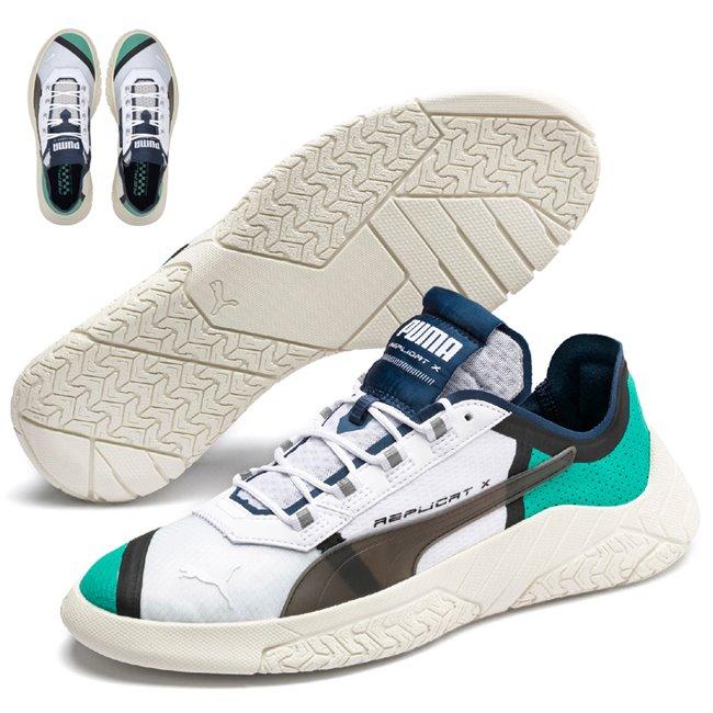 PUMA REPLICAT-X SD Tech shoes, Color: white, Material: Upper: mesh, Midsole: PU, Sole: rubber