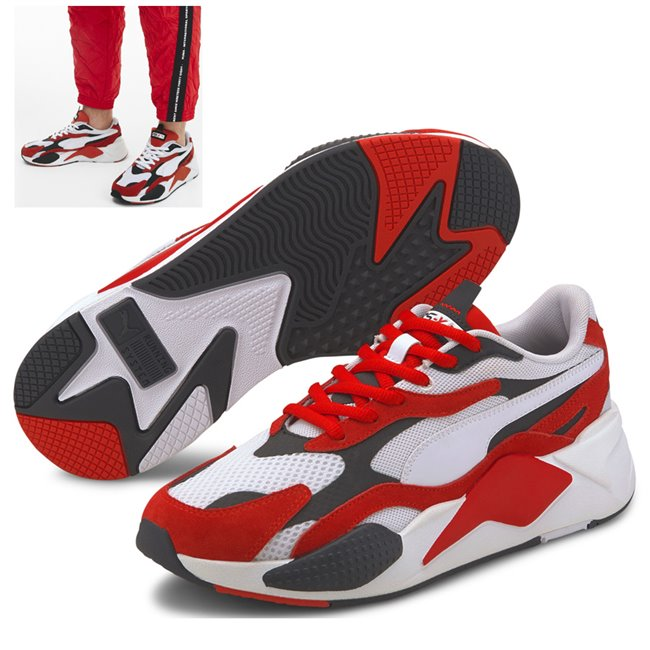 PUMA RS-X SUPER shoes, Color: white, Material: Upper: mesh, Midsole: PU, Sole: rubber
