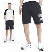 PUMA REBEL Bold shorts, Color: black, Material: cotton, polyester