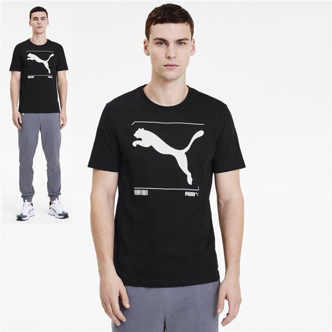 PUMA Nu-tility Graphic T-shirt, Color: black, Material: Cotton