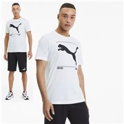 PUMA Nu-tility Graphic T-shirt, Color: white, Material: Cotton