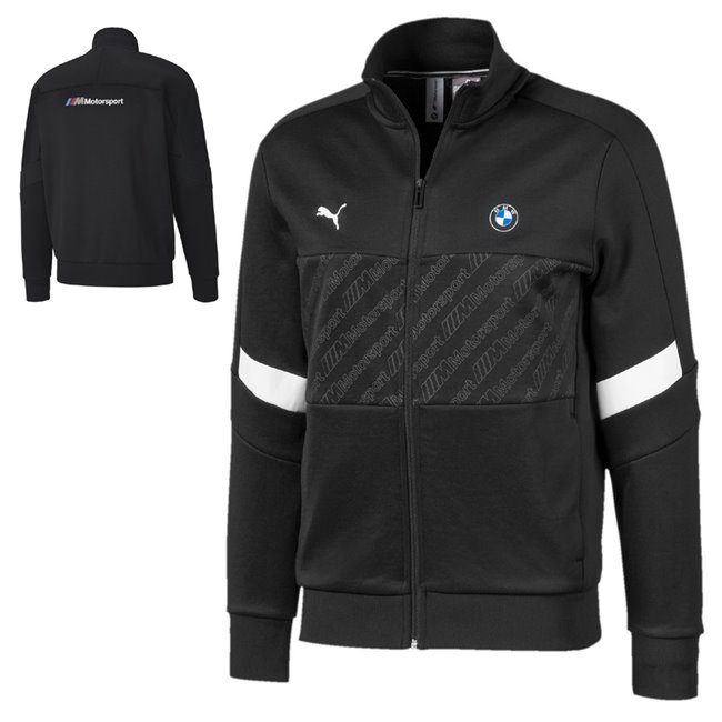 BMW MMS T7 Track jacket, Color: black, Material: polyester, cotton