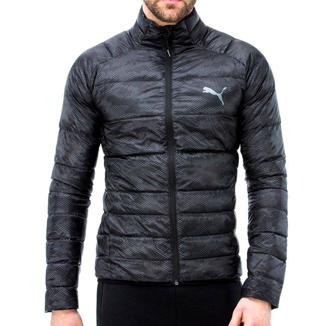 PUMA PWRWarm packLITE 600 Dwn AOP, Color: black, Material: 100% polyester
