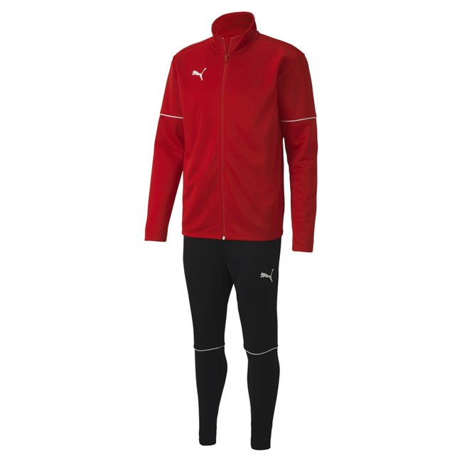 PUMA teamGOAL Tracksuit Core set, Color: red, Material: 100% polyester