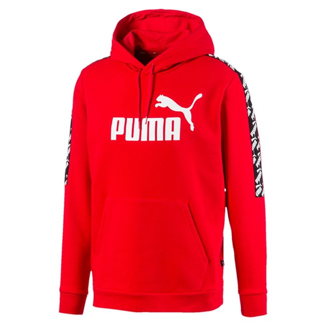 PUMA AMPLIFIED TR sweatshirt, Color: red, Material: cotton, polyester