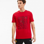 Ferrari Big Shield+ T-shirt, Color: red, Material: Cotton