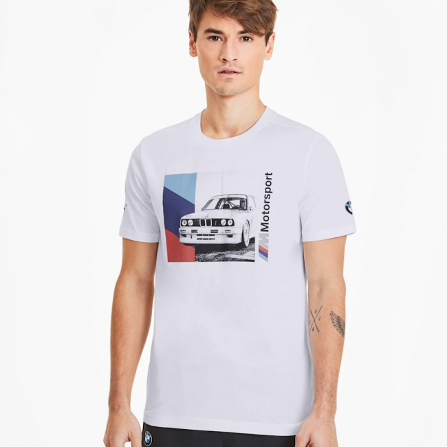 BMW MMS Graphic T-shirt, Color: white, Material: Cotton
