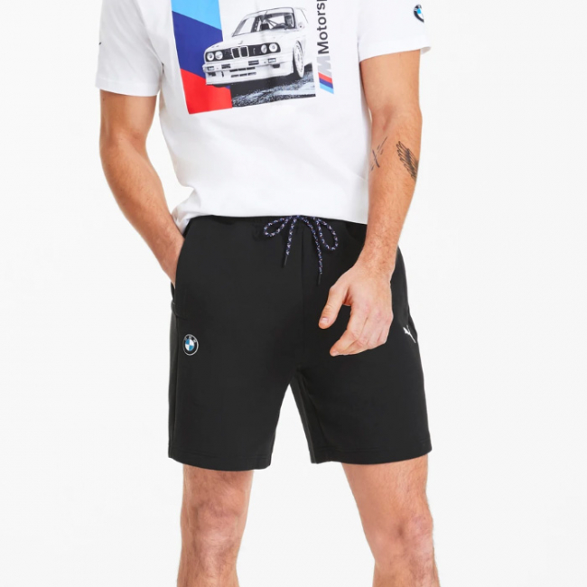 BMW MMS Sweat Shorts trousers, Color: black, Material: cotton, polyester
