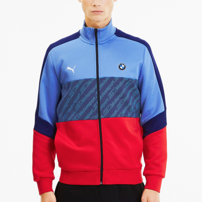 BMW MMS T7 Track jacket, Color: blue, Material: polyester, cotton