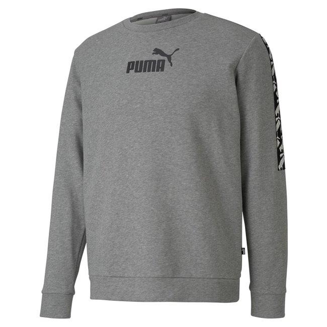 PUMA AMPLIFIED Crew TR sweatshirt, Color: gray, Material: cotton, polyester