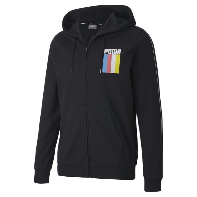 PUMA CELEBRATION FZ hoodie, Color: black, Material: cotton, polyester