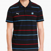 BMW MMS Striped T-shirt, Color: black, Material: cotton, polyester