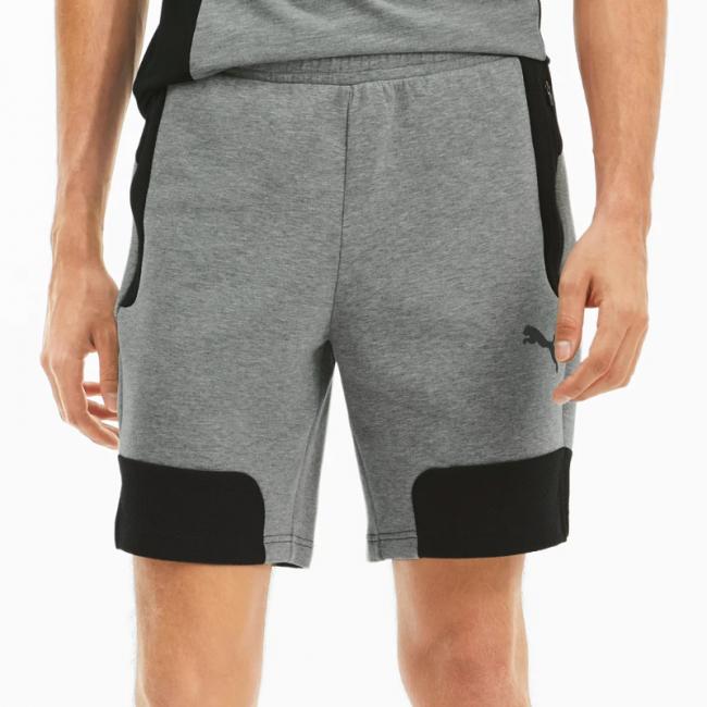 PUMA EVOSTRIPE shorts, Color: gray, Material: cotton, polyester