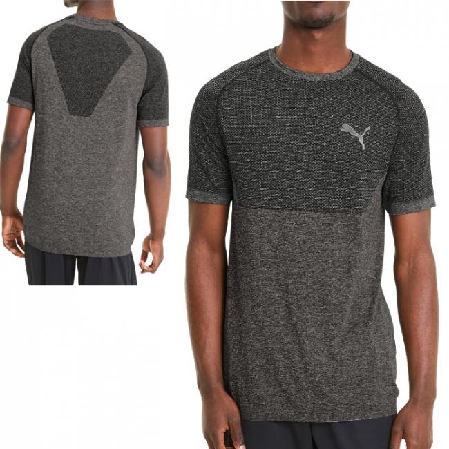 PUMA RTG Evoknit Basic T-shirt, Color: black Material: 72% polyester 28% nylon