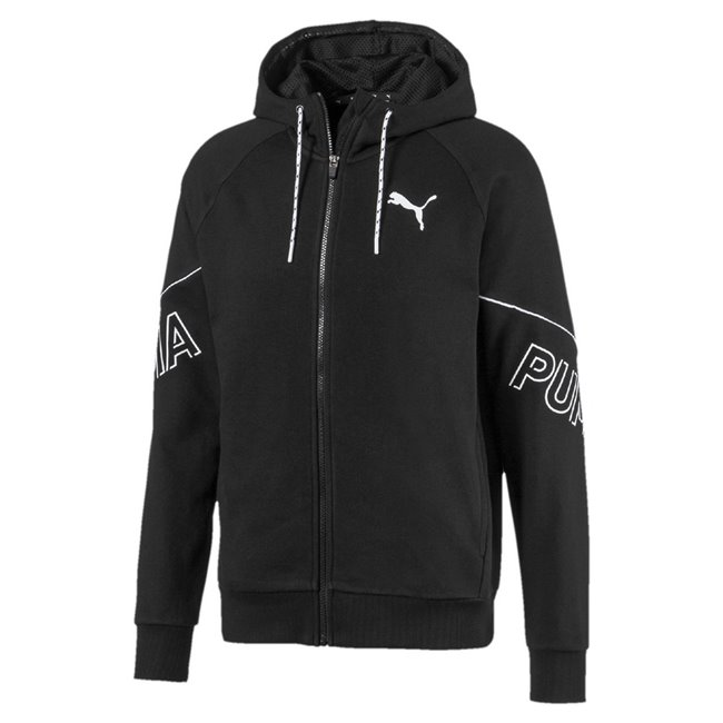 PUMA MODERN SPORTS FZ TR hoodie, Color: black, Material: cotton, polyester