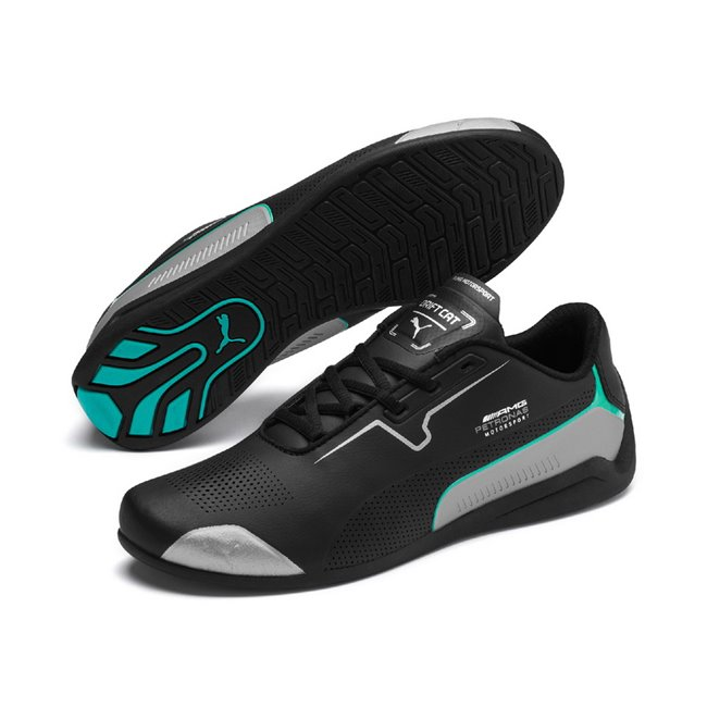 Mercedes MAPM Drift Cat 8 shoes, Colour: black, silver, Material: Upper: synthetic leather, synthetic fibers, Sole: rubber
