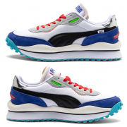 PUMA STYLE RIDER RIDE ON shoes, Color: white, Material: Upper: fabric, Midsole: IMEVA, Sole: rubber