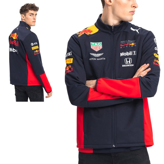 Aston Martin Red Bull Team Softshell jacket, Color: black, Material: N / A