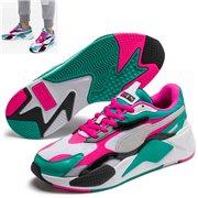 PUMA RS-X PLASTIC shoes, Color: white, Material: Upper: mesh, Midsole: PU, Sole: rubber