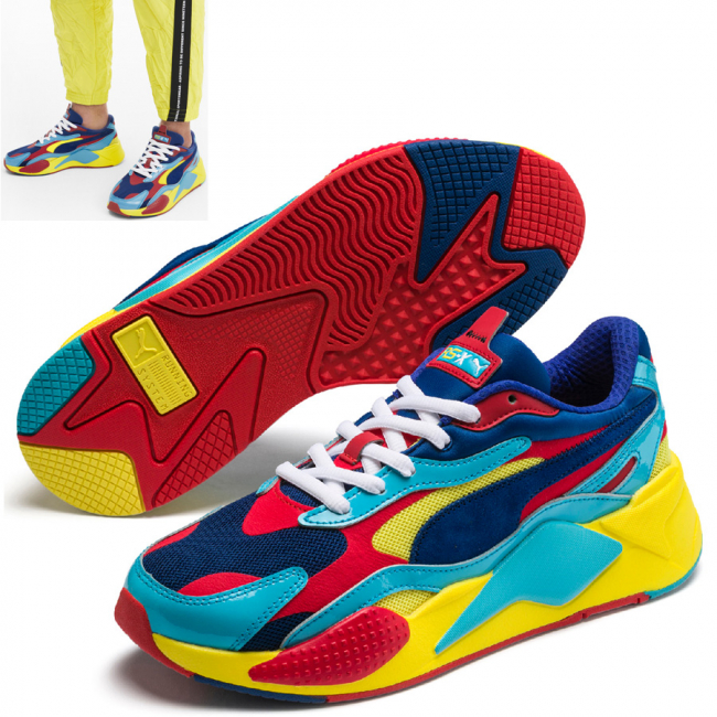 PUMA RS-X PLASTIC shoes, Color: red, Material: Upper: mesh, Midsole: PU, Sole: rubber