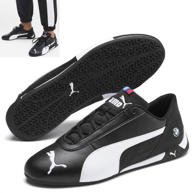 BMW MMS R-cat shoes, Color: black, Material: Upper: synthetic fibers, Sole: rubber