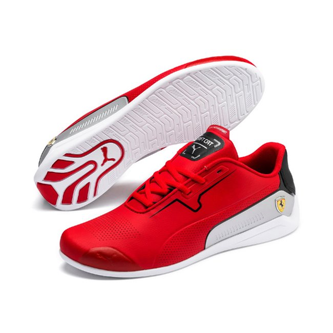 Ferrari SF Drift Cat 8 shoes, Color: red, Material: Upper: synthetic fibers, Sole: rubber