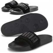 PUMA Leadcat FTR Charlotte Wns flip-flops, Color: black, Material: Upper: fabric, Midsole: EVA, Sole: rubber