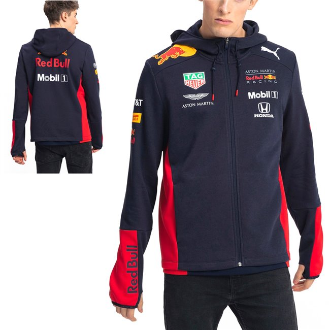 Aston Martin Red Bull Team Jkt hoodie, Color: black Material: 68% cotton 32% polyester
