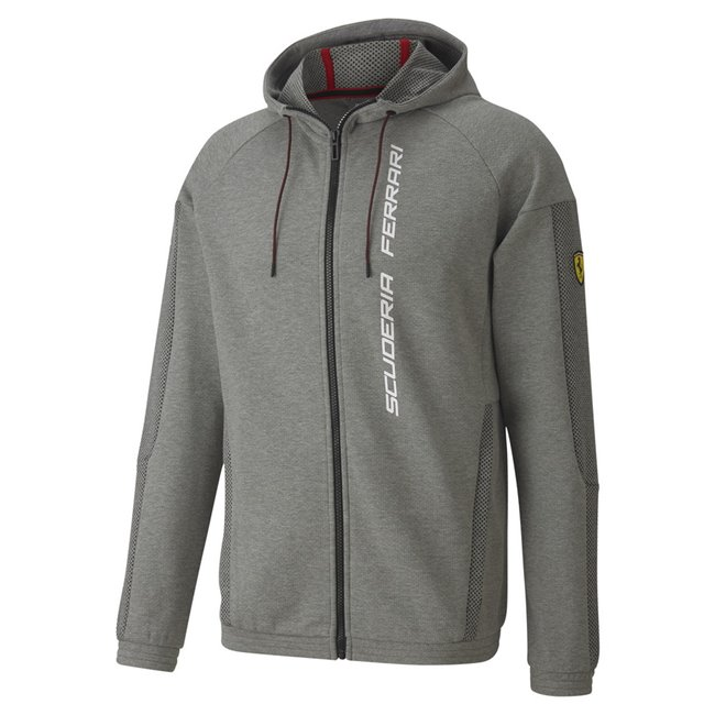 Ferrari Race Hdd Sweat Jkt, Color: gray, Material: cotton, polyester,