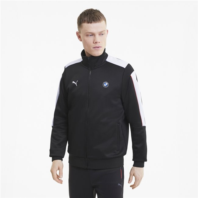 BMW MMS T7 Track Jacket, Color: black, Material: polyester, cotton,