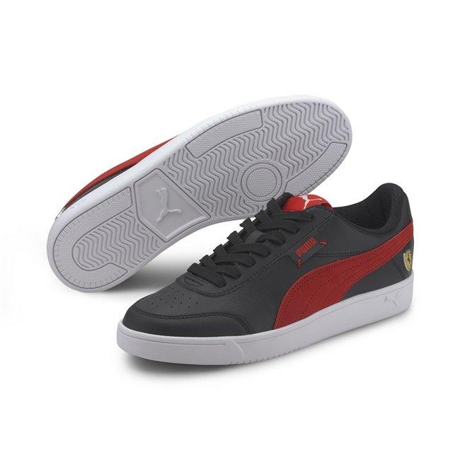 Ferrari Race Court Legend Shoes, Color: black, red, white, Material: synthetic fibers,