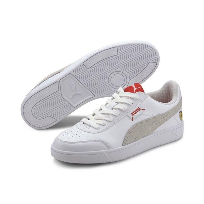 Ferrari Race Court Legend Shoes, Color: white, white, white, Material: synthetic fibers,