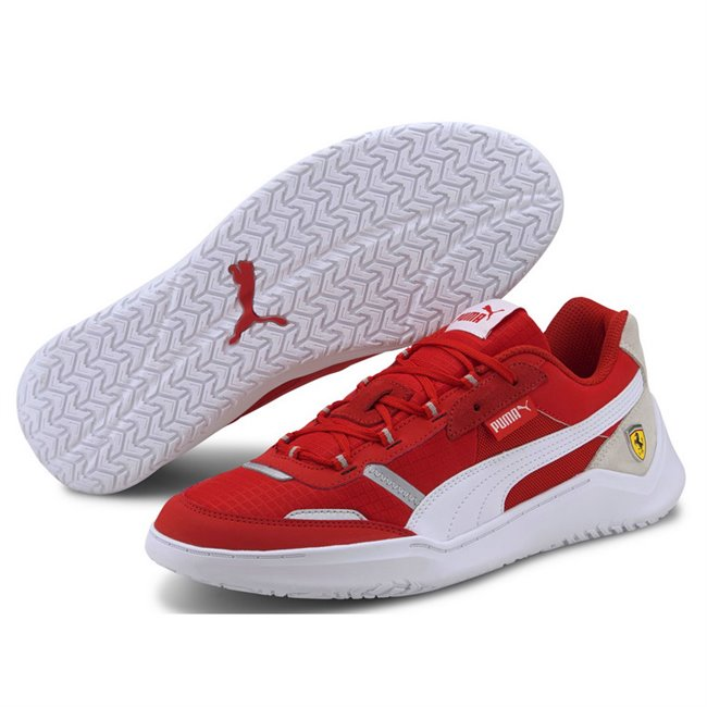 Ferrari Race DC Future Shoes, Color: red, white, white, Material: fabric, Motorsport Inspired