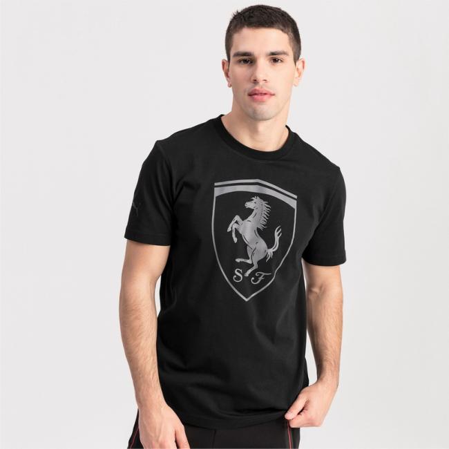Ferrari Big Shield T-shirt, Color: black, Material: Cotton