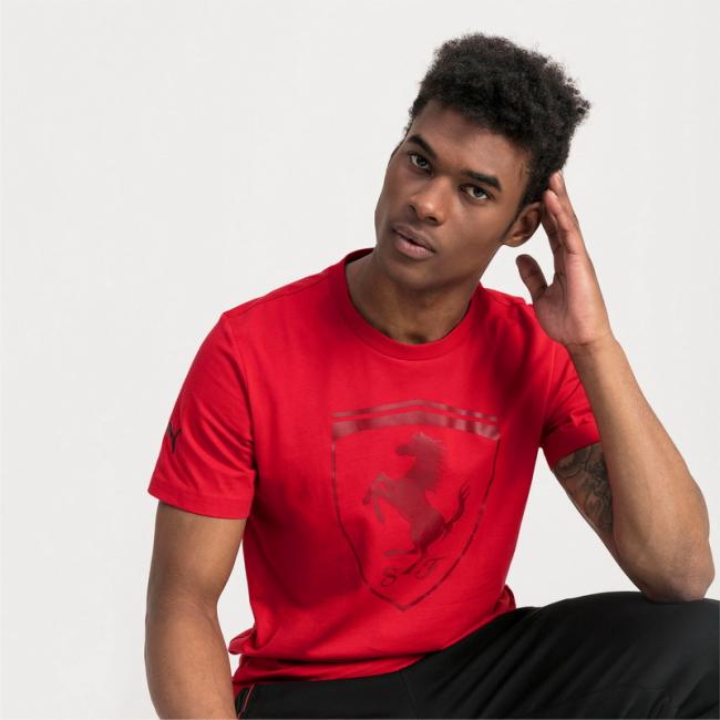 Ferrari Big Shield T-shirt, Color: red, Material: Cotton