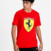 Ferrari Race Big ShieldTee+, Color: red, Material: cotton,