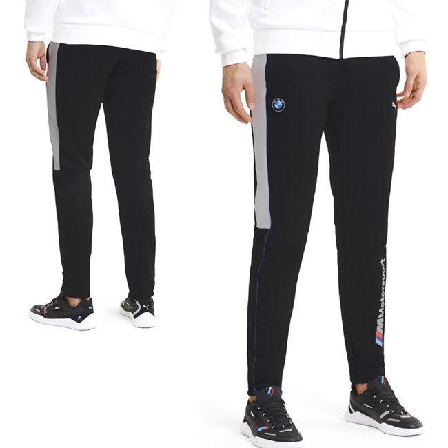 BMW MMS T7 Track Pants, Color: black, Material: polyester, cotton,