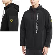 Ferrari Race Hdd Sweat Jkt, Color: black, Material: cotton, polyester,