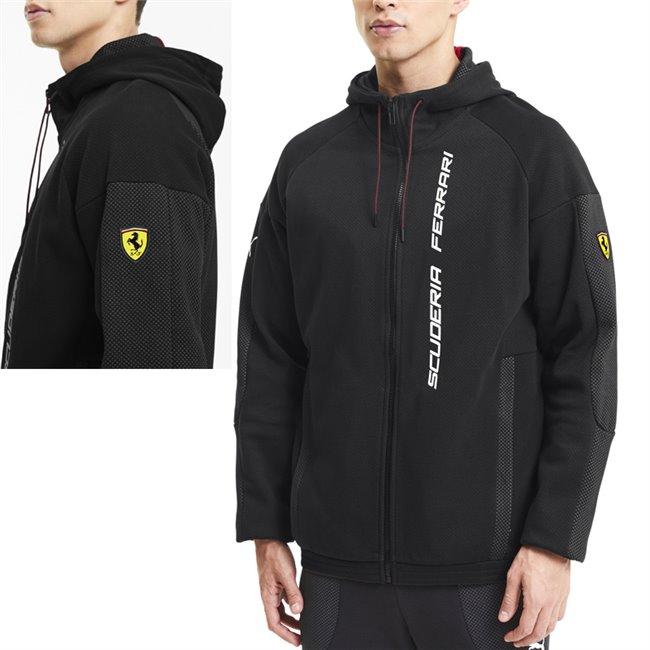 Ferrari Race Hdd Sweat Jkt, Color: black, Material: cotton, polyester,