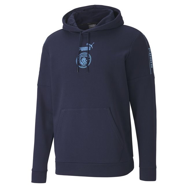 Manchester City FtblCulture Hoody, Color: dark blue, blue, Material: polyester, cotton,