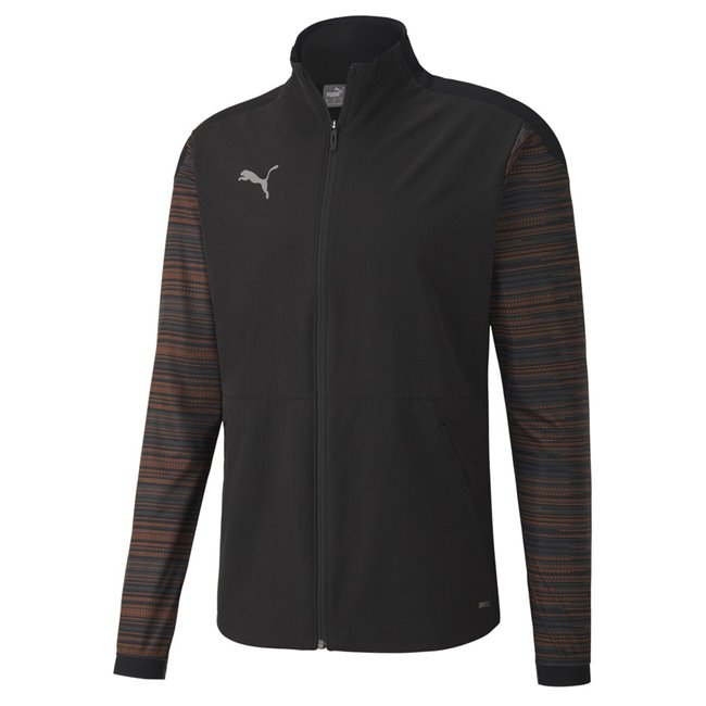 PUMA ftblNXT Pro Jacket, Color of product: black, orange, Material: polyester, A progressive training collection designed for a higher level of performance and street utility.