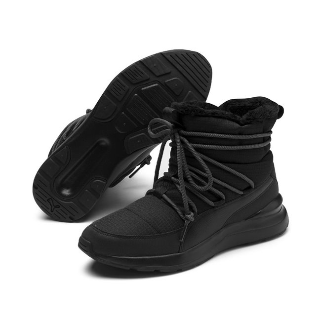 PUMA Adela Winter Boot women ankle boots, Color: Black, Material: nylon, synthetic leather