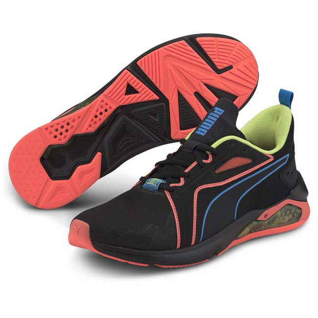 PUMA LQDCELL Method FM Xtreme shoes, Color: black, orange, yellow, Material: mesh, The LQDCELL Agility is PUMA
