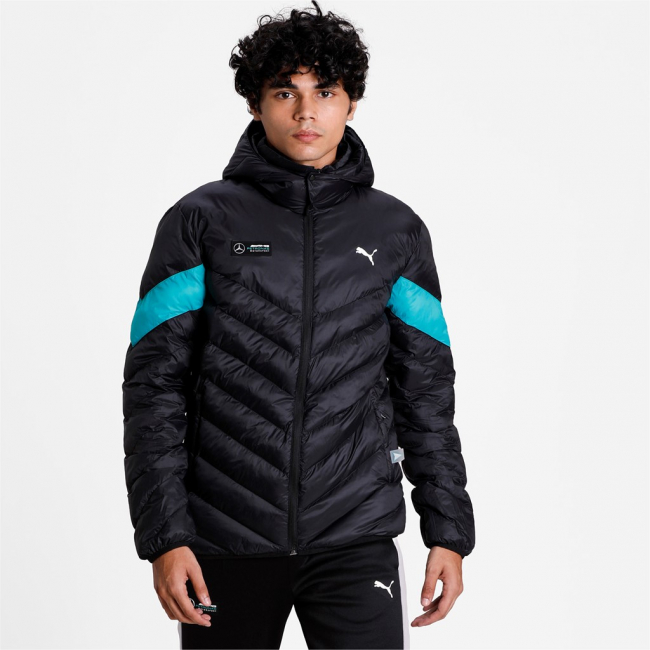 Mercedes MAPM MCS Eco Lite Down Jacket, Color: black, Material: nylon, polyester,